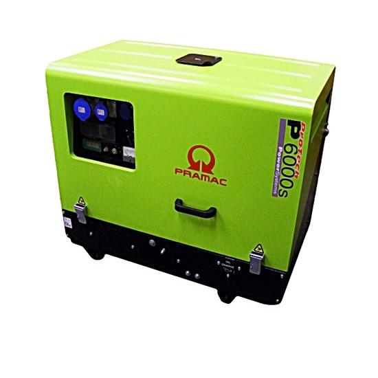 Pramac P6000s 230/115v + Electric Start - Low Noise - Diesel Generator