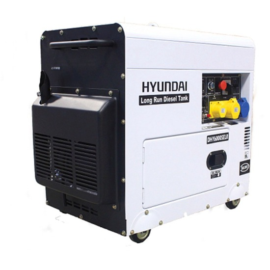 Hyundai DHY6000SELR 110/230v +AVR 6kVA Diesel Generator | Low Noise