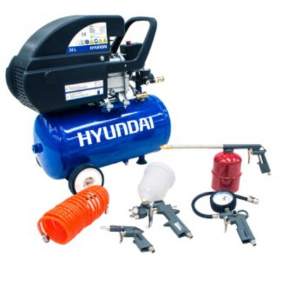 Hyundai 24L 'Home Series' Air Compressor W/ 5-Piece Air Tool Kit HY2524