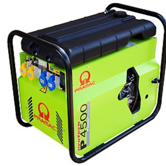 Pramac P4500 230/115v Portable Petrol Generator