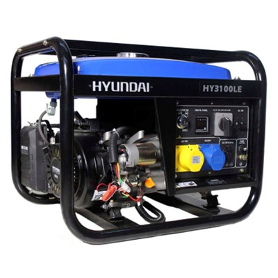 Hyundai HY3100LE Electric Start Portable Petrol Generator