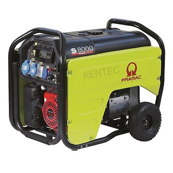 Pramac S8000 - 230v +CONN+AVR+RCD E-Start Portable Petrol Generator
