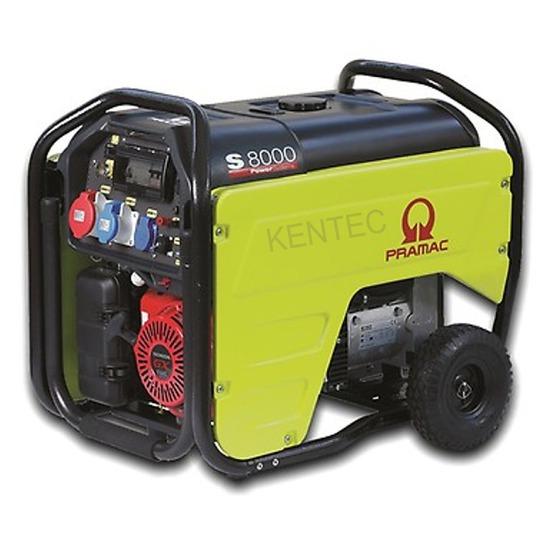 Pramac S8000 400v +CONN + AVR +RCD - Petrol Generator - Kentec Generators