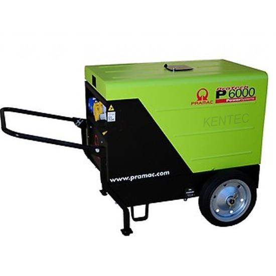 Pramac P6000 230/115v Low Noise Diesel Generator with Trolley Kit