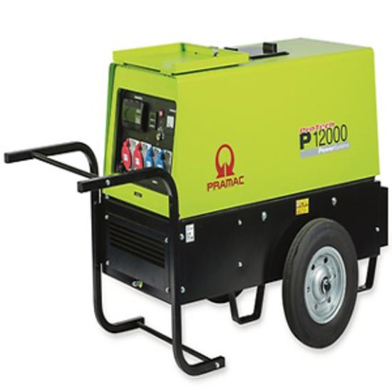 Pramac P12000 400v +CONN +Wheel Kit - Diesel Generator - Pramac