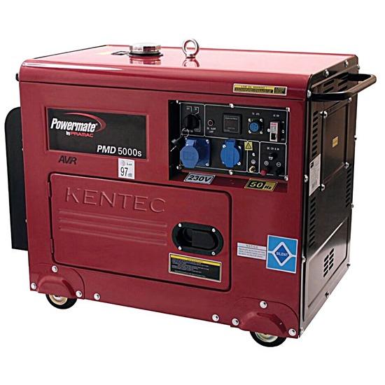 Powermate PMD5000S 230v +AVR +CONN Diesel Generator - Pramac Generators