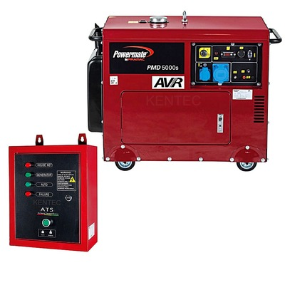 Powermate PMD5000S 230v +AVR +ATS Silent Portable Generator