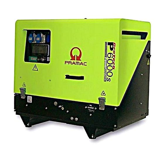 Pramac P6000s 230v +CONN+DPP Pramac P Series Diesel Generator