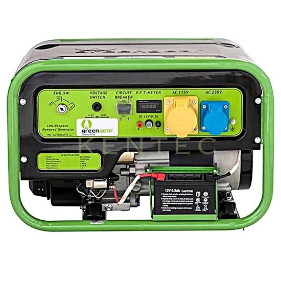 Greengear GE-3000 LPG Only Generator - AVR - Electric Start
