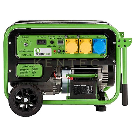 Greengear GE-6000 LPG Only +AVR +Electric Start - LPG Generator