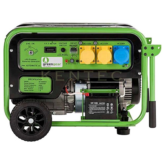 Greengear GE-7000 LPG Only +AVR +Electric Start - LPG Generator