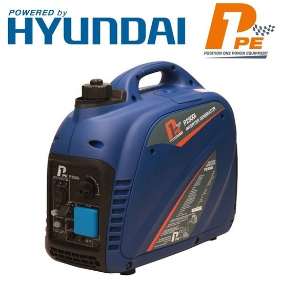 P1PE P2500i 2200W Portable Petrol Inverter Generator (Powered by Hyundai)