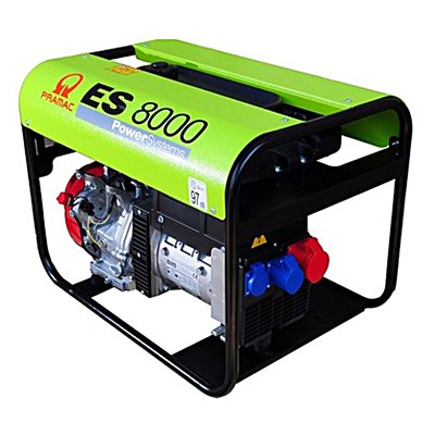 Pramac ES8000 400v 3 Phase Long Run + AVR Portable Petrol Generator