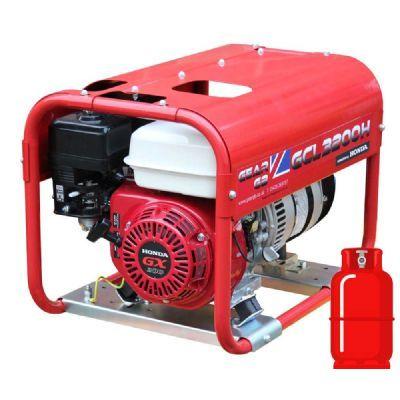 GCL3200H 3.2kW/4kVA 110v/230v LPG/Petrol Dual Fuel Generator