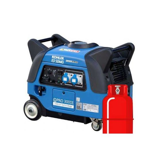 SDMO iPro3000E LPG Dual Fuel Yamaha Powered Silent Elec-Start Generator
