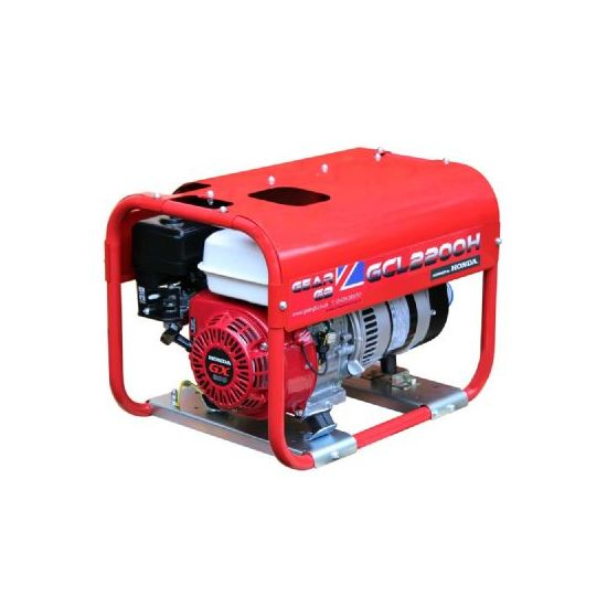 GCL2200H 2.2kW (2.7kVA) 110v/230v Honda GX200 Petrol Generator