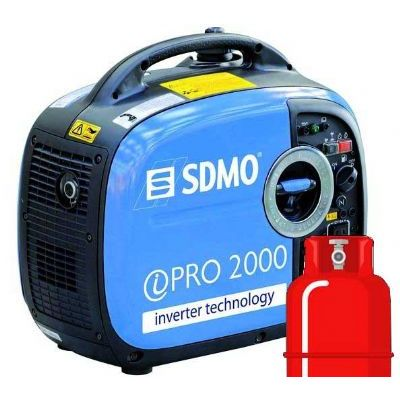 SDMO iPro2000 LPG Dual Fuel Yamaha 2kW Silent Petrol Generator