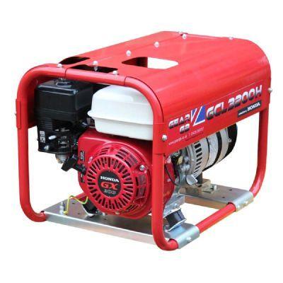 GCL3200H 3.2kW (4kVA) 110v/230v Honda GX200 Petrol Generator