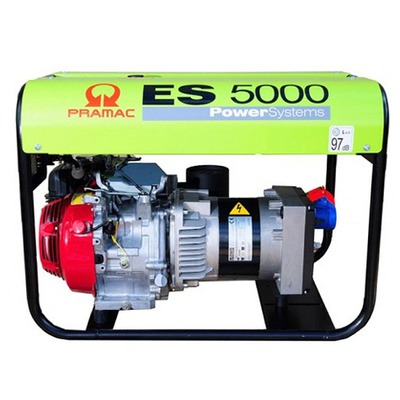 Pramac ES5000 400v 3 Phase Long Run Site/Open Frame Generator